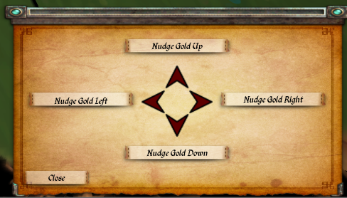 Gold Nudging Menu